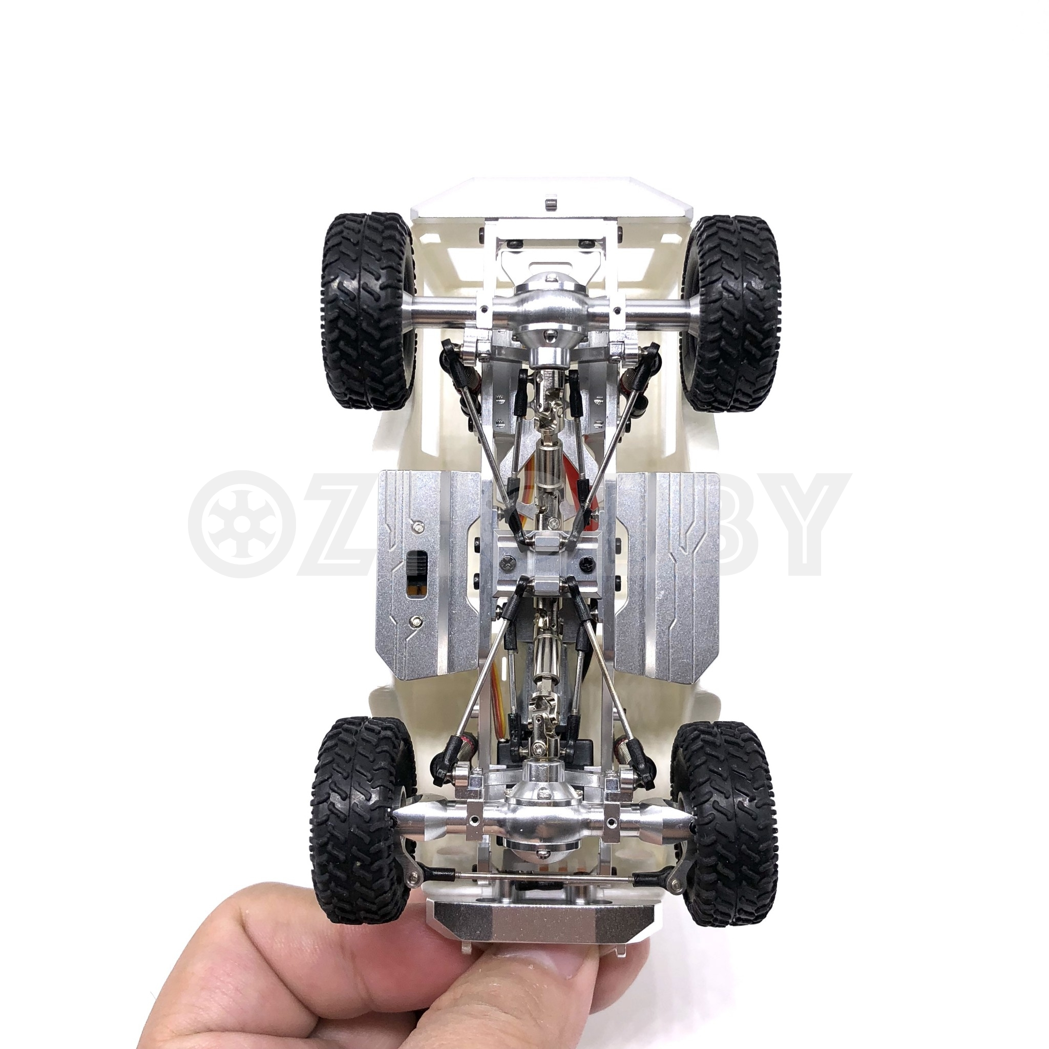 Orlandoo Hunter 1/35 Jeep Chassis Frame with full silver metal Part ...