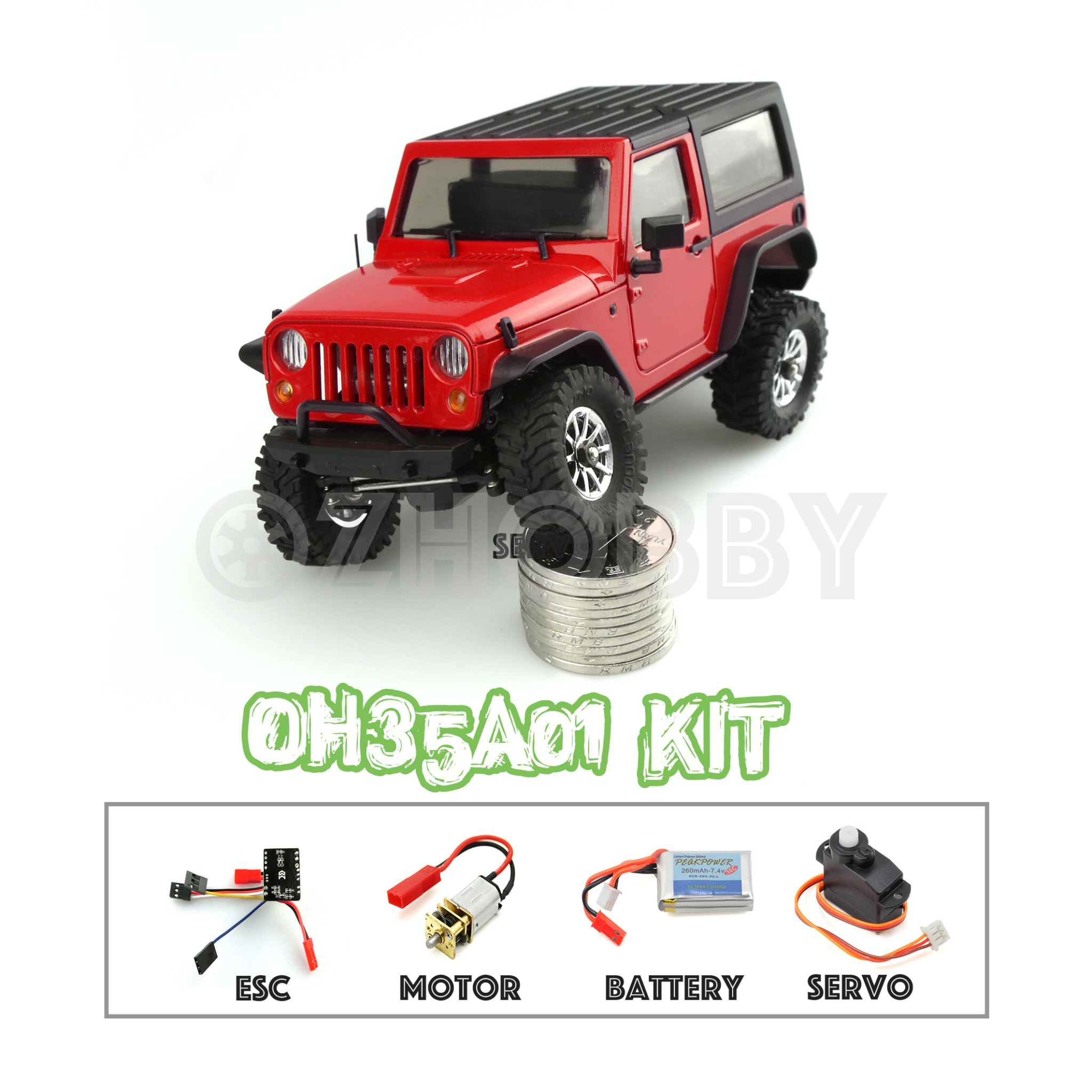 Electronic Kits For Assembly : Orlandoo hunter rc crawler assembly kit oh a