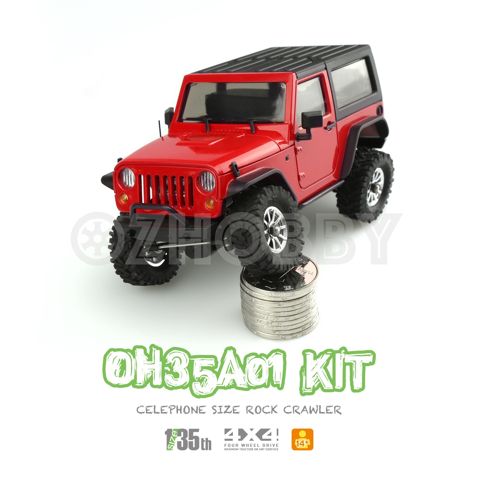 Orlandoo Hunter 1 35 Rc Crawler Assembly Kit Oh35a01 Jeep Wrangler Electronic Combo Set Ozhobby Net